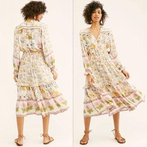 New spell designs FP wild bloom midi dress M